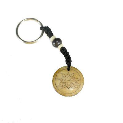 Přívěsek na klíče Lotosový květ v kruhu