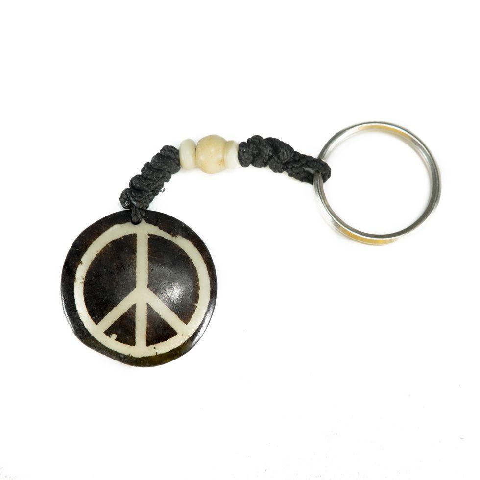 Kostěný přívěsek na klíče Peace