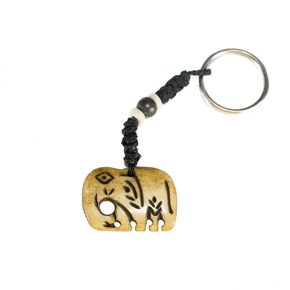 Kostěný přívěsek na klíče Slon