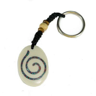 Přívěsek na klíče Spirála v oválu