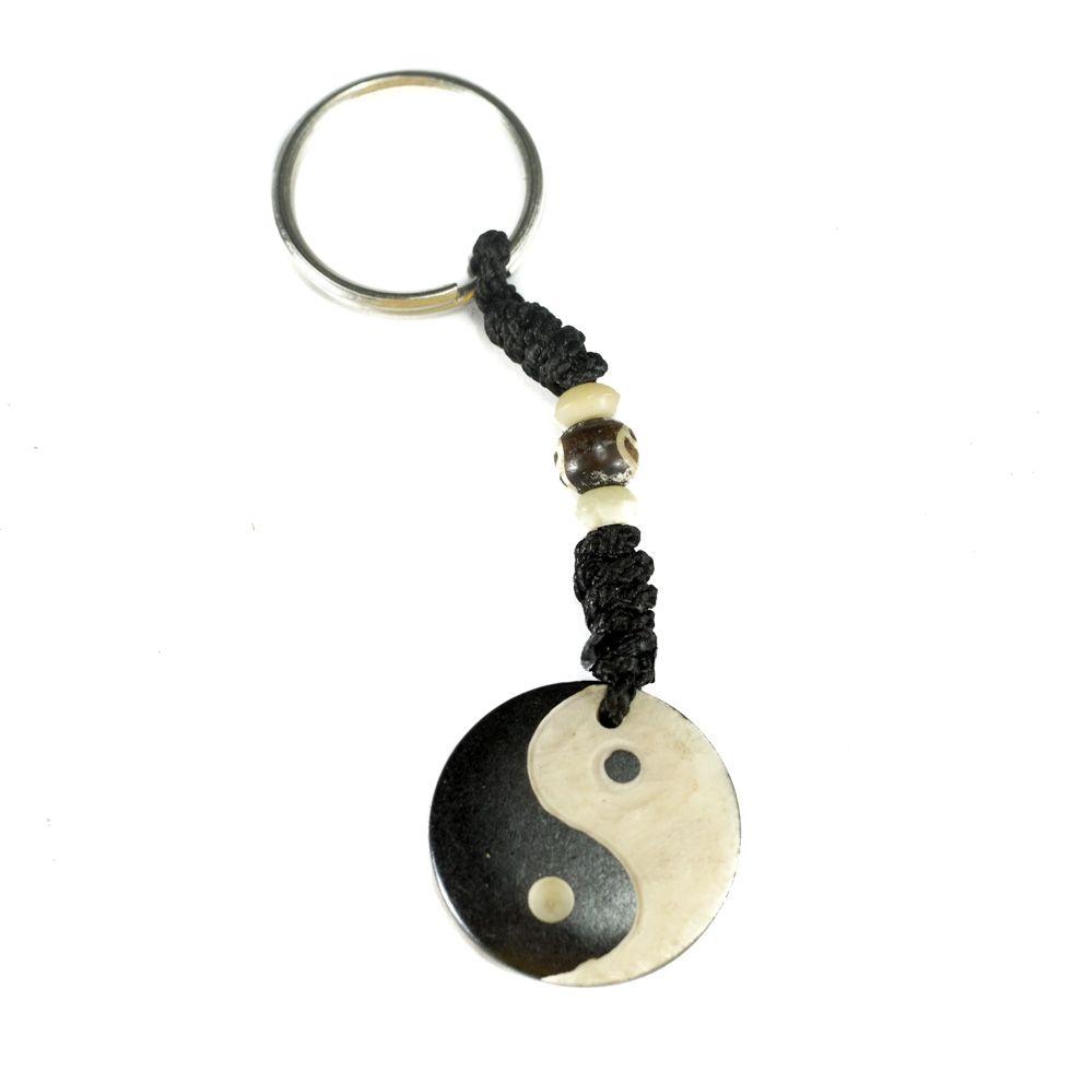 Kostěný přívěsek na klíče Yin&Yang