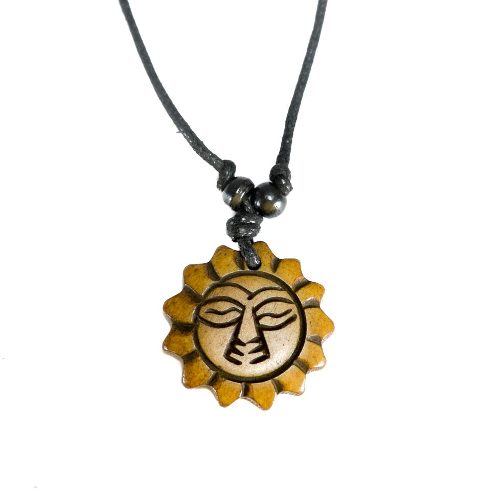 Kostěný přívěsek Slunce - větší, jednoduchý