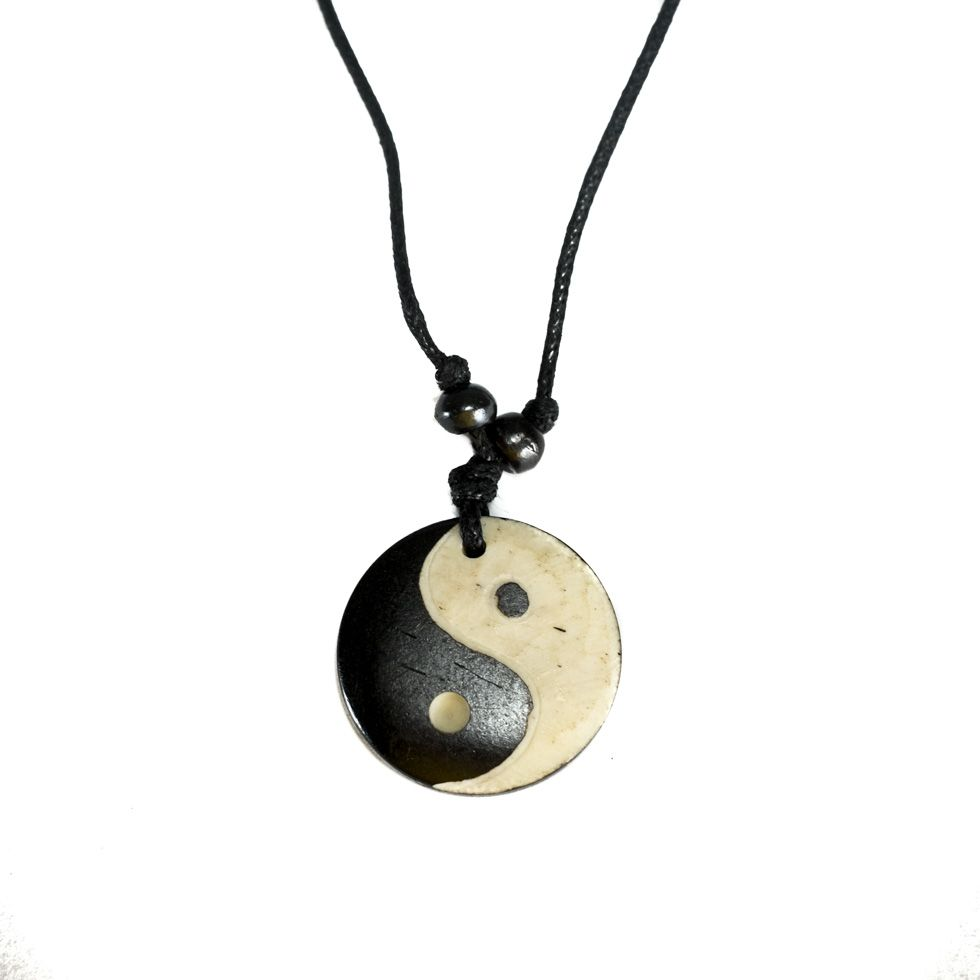 Kostěný přívěsek Yin&Yang - jednoduchý