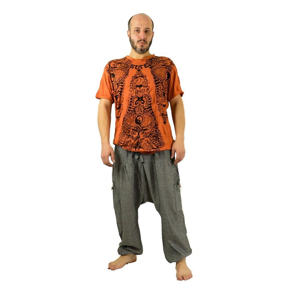 Pánské kalhoty se sníženým sedem Jatan Kelabu