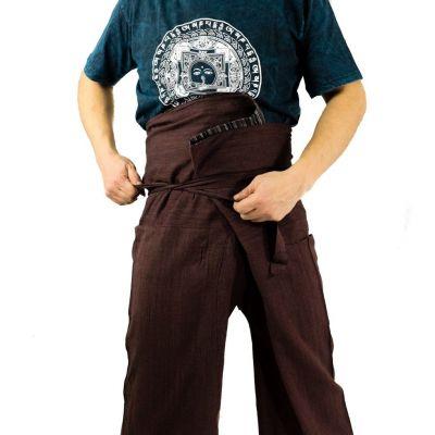 Zavinovací kalhoty Fisherman's Trousers - hnědé
