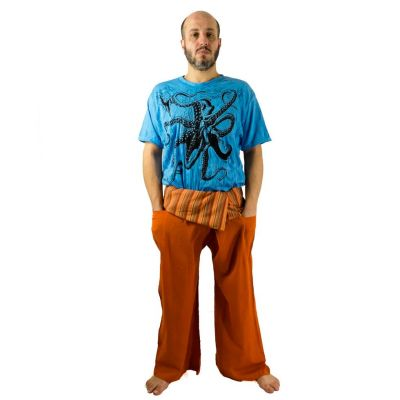 Zavinovací kalhoty Fisherman's Trousers - oranžové