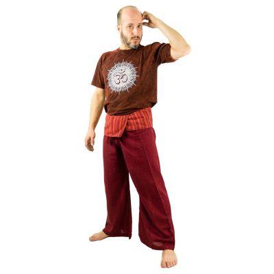Kalhoty Fisherman's Trousers - vínové