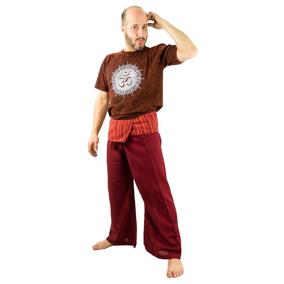 Zavinovací kalhoty Fisherman's Trousers - vínové Nepal