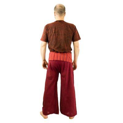 Zavinovací kalhoty Fisherman's Trousers - vínové