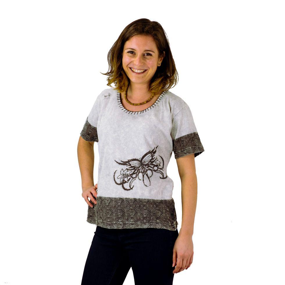 Dámské tričko s krátkým rukávem Sudha Kelabu