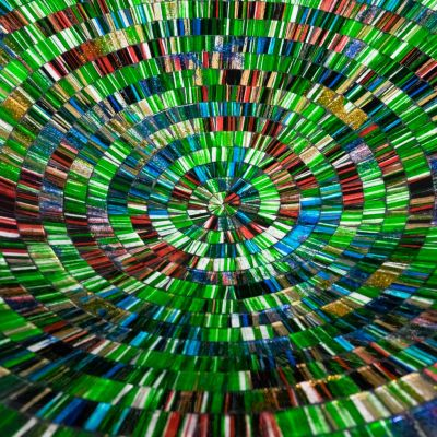 Dekorativní miska Berkilau Green, kulatá