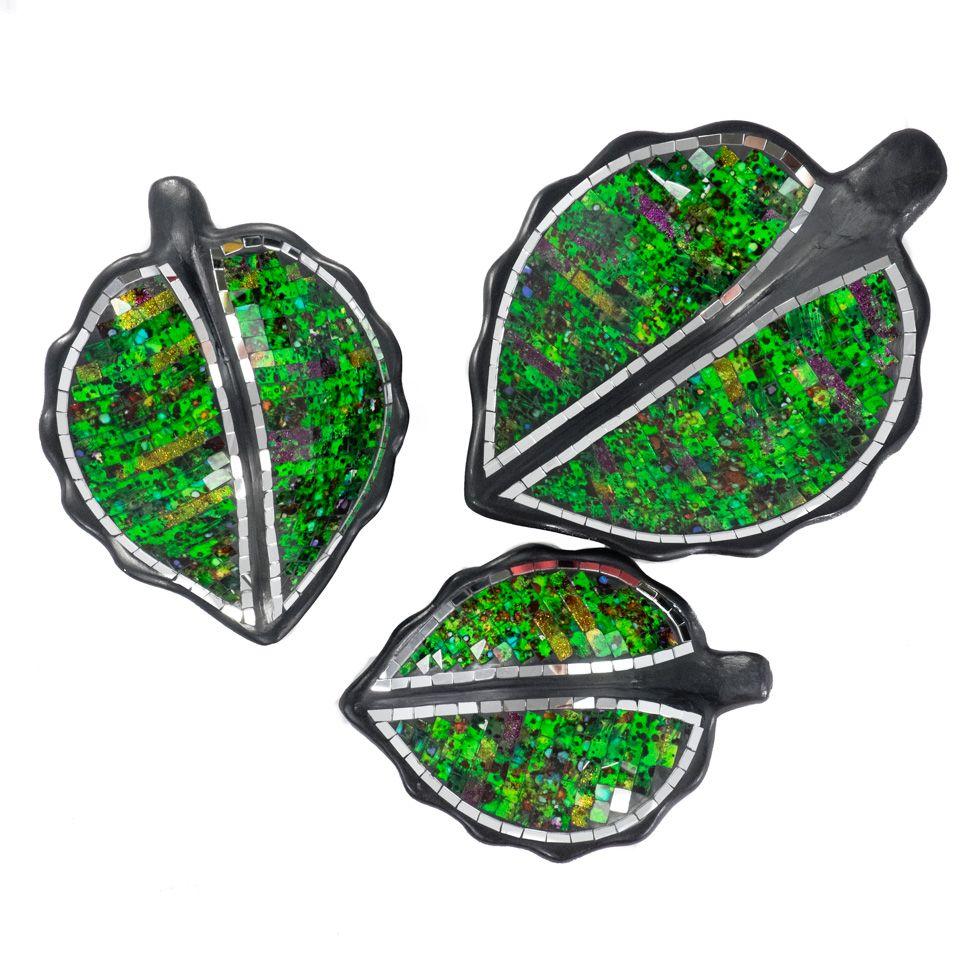 Dekorativní miska Berkilau Green Leaf