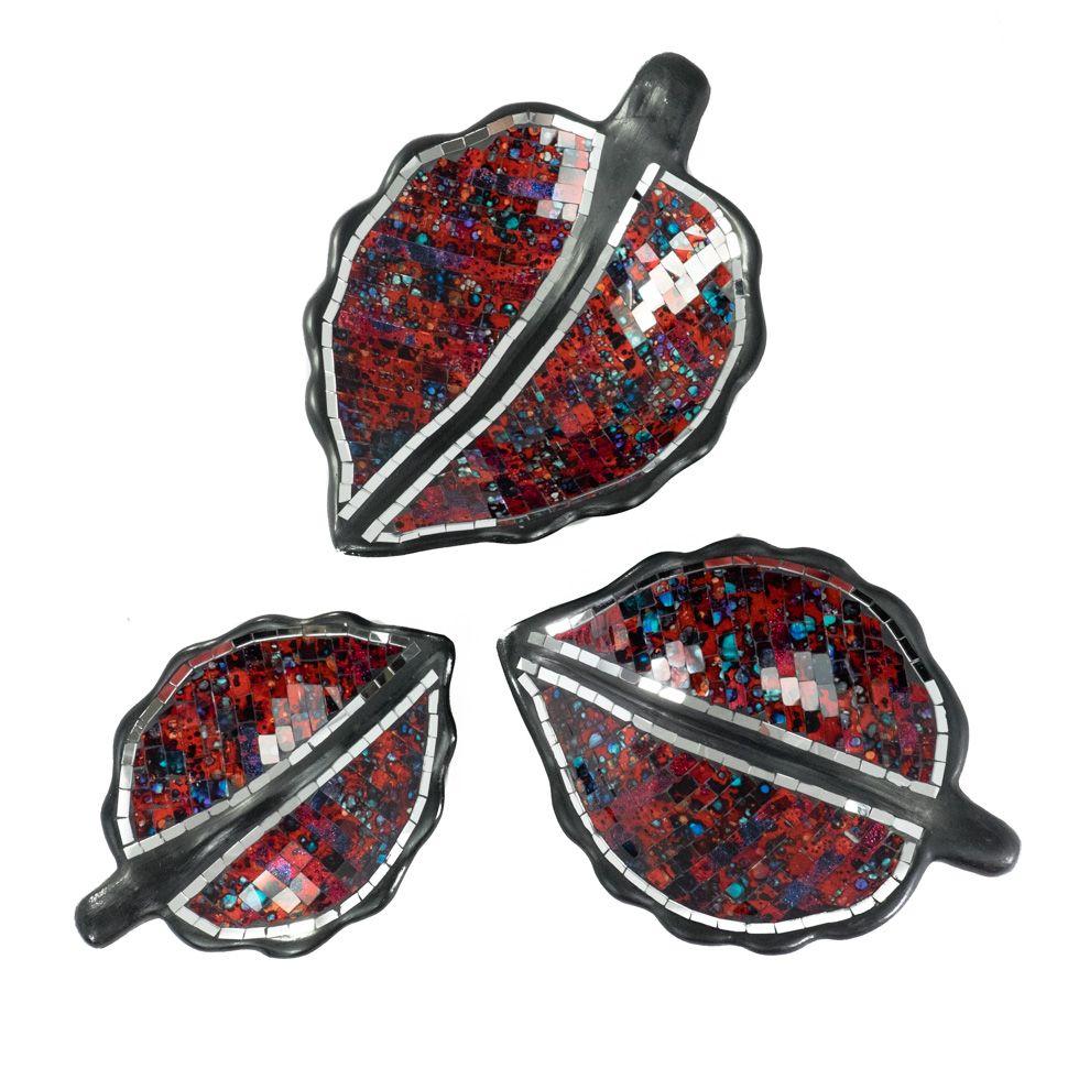 Dekorativní miska Berkilau Red Leaf