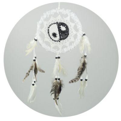 Lapač snů Yin&Yang White