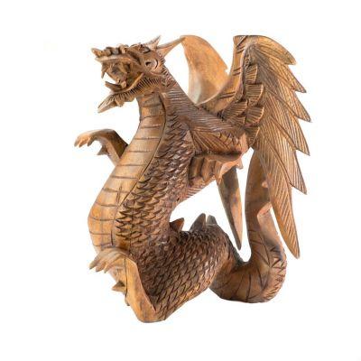 Vyřezáváná dřevěná soška Drak