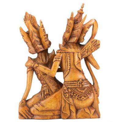 Vyřezáváná dřevěná soška Ráma a Sita