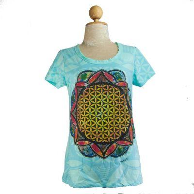 Dámské tričko Flower of Life Blue