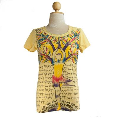 Dámské tričko Tree of life yoga Yellow