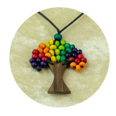 Přívěsek Stromek - pestrobarevný