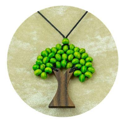Přívěsek Stromek - světle zelený