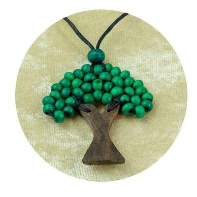 Přívěsek Stromek - tmavě zelený