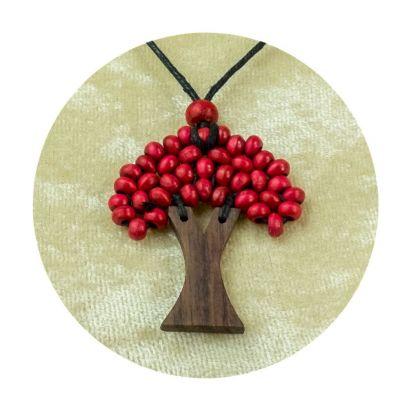 Přívěsek Stromek - vínový