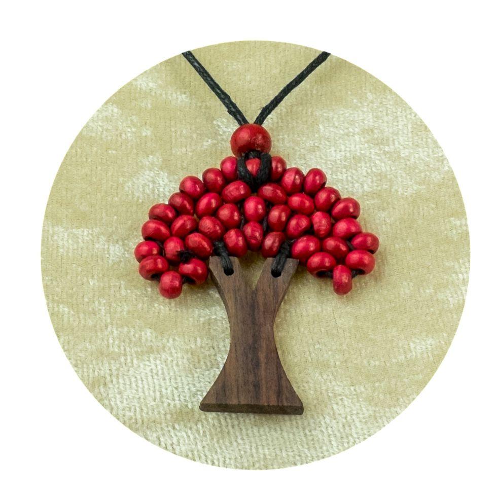Dřevěný přívěsek Stromek - vínový