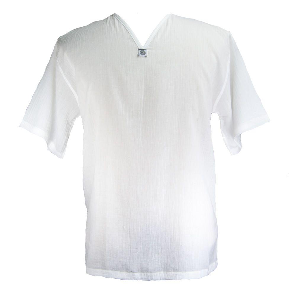 Kurta Lamon White - pánská košile s krátkým rukávem