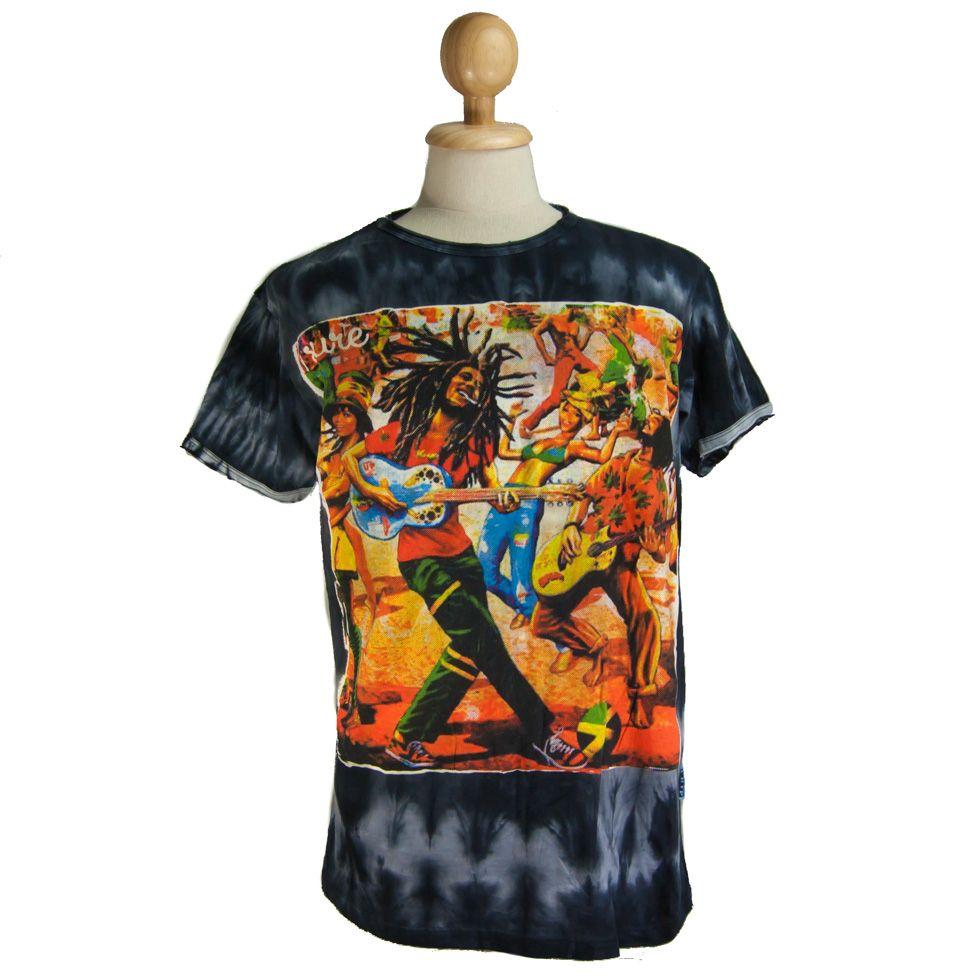 Pánské tričko Sure Bob Marley Black