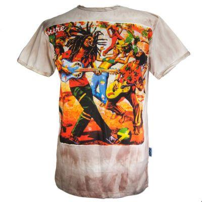 Tričko Bob Marley Brown