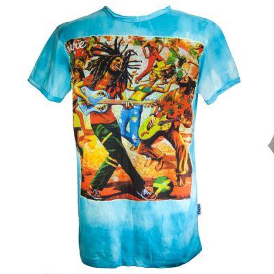 Tričko Bob Marley Turquoise