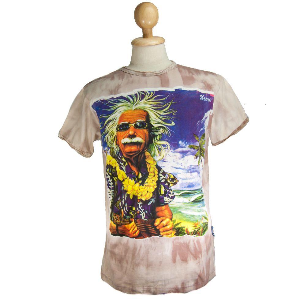 Pánské tričko Sure Einstein on Holiday Brown