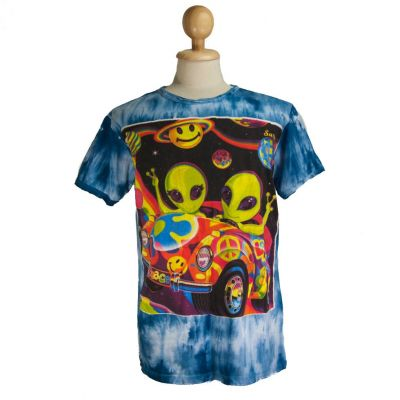 Tričko Hippie Aliens Blue