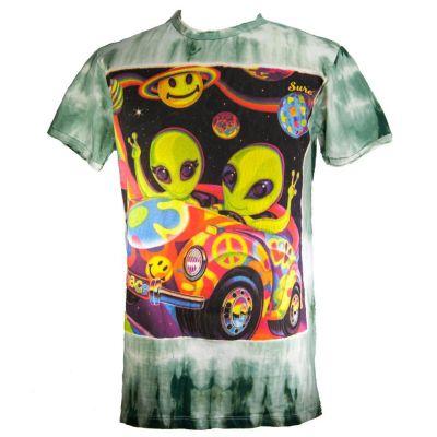 Tričko Hippie Aliens Green