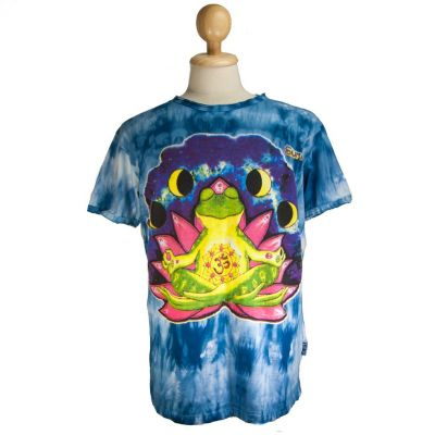 Tričko Meditating Frog Blue