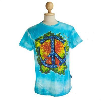 Tričko Peace Turquoise