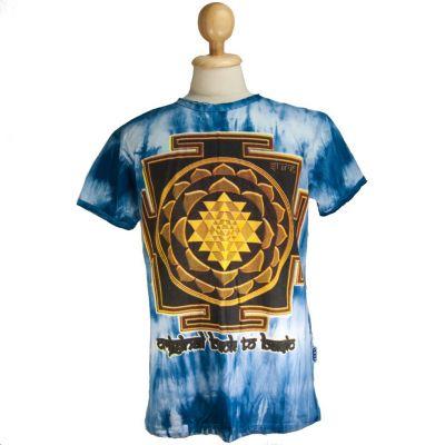Tričko Sri Yantra Blue