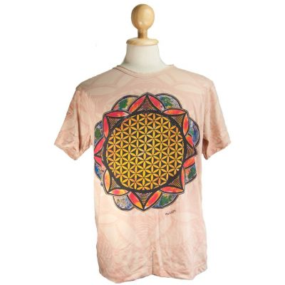 Tričko Flower of Life Beige