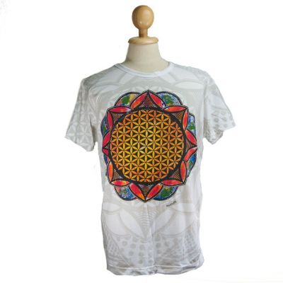 Tričko Flower of Life White