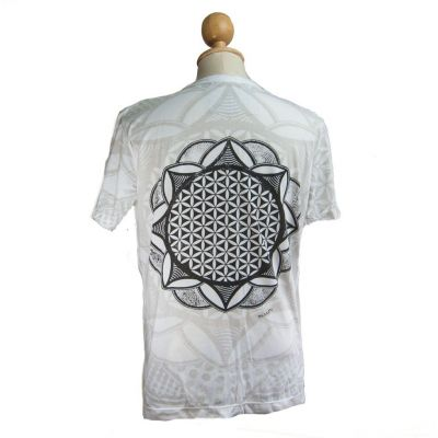 Tričko značky Mirror - Flower of Life White