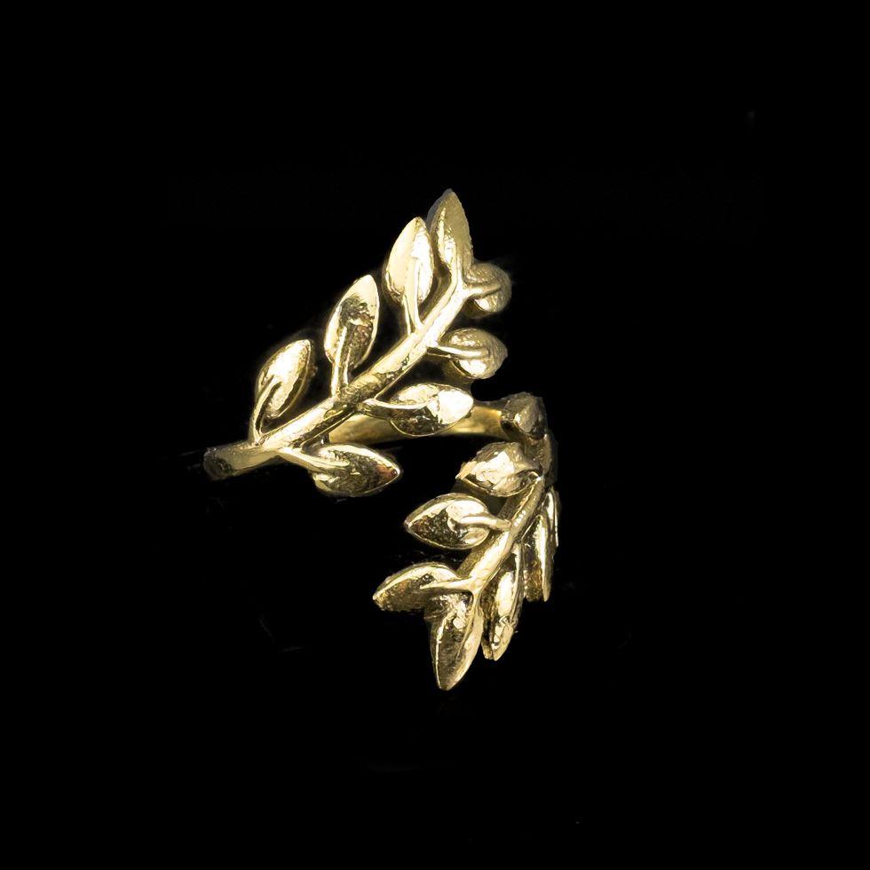 Mosazný prsten Laurel Brass