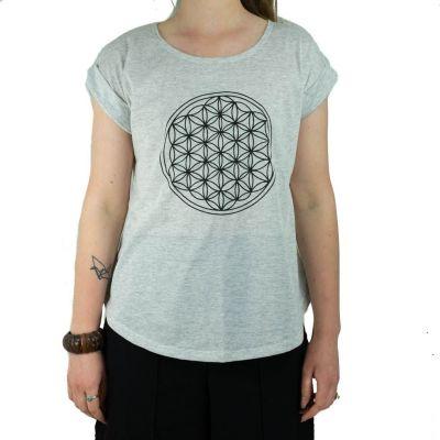 Dámské tričko s krátkým rukávem Darika Flower of Life Greenish