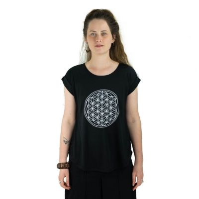Tričko Darika Flower of Life Black