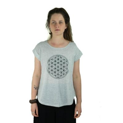 Tričko Darika Flower of Life Greenish