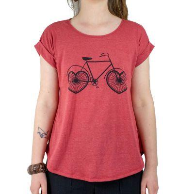 Dámské tričko s krátkým rukávem Darika Lovely Bike Red