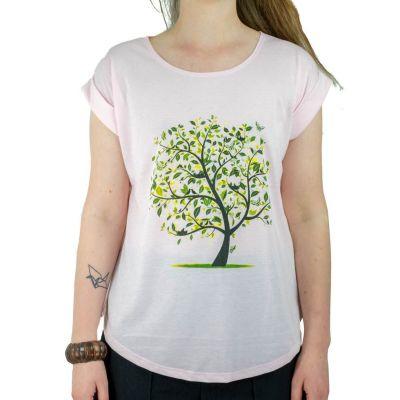 Dámské tričko s krátkým rukávem Darika Meadow Tree Pink