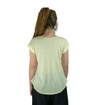 Dámské tričko s krátkým rukávem Darika Spiritual Elephants Yellow