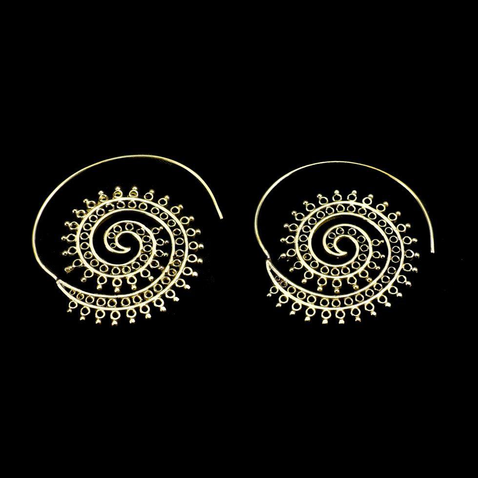Mosazné náušnice Anjali India