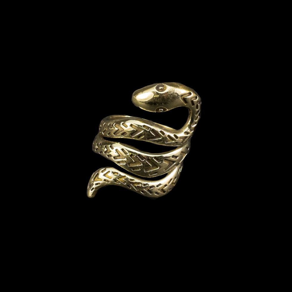 Mosazný prsten Viper