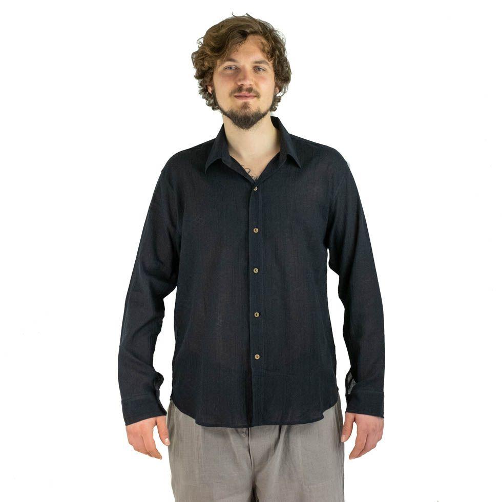Pánská košile s dlouhým rukávem Tombol Black